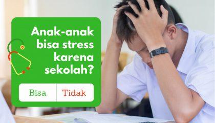 mengatasi stress karena sekolah